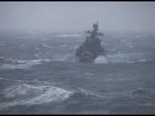 Атлантический шторм Съёмка с ТАВКР